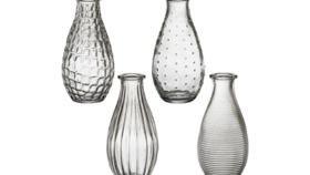 """Image of a Bud Vase - Assorted Textured, Clear - 5.5"""" H"""