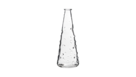 """Image of a Bud Vase - Tapered with Raised Dots, Clear - 7"""" H"""