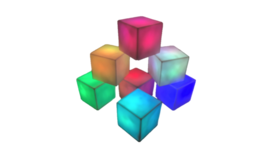"Image of a Lighting - LED Cubes, Multi-Colour - 3"" H x 3"" W"