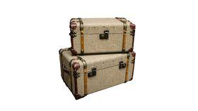 """Image of a Luggage - Vintage Tweed Cases Set 10-12"""" H"""