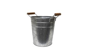 """Image of a Bucket - Galvanized with Wood Handles - 9.5"""" H x 10"""" W (7.5"""" dia)"""