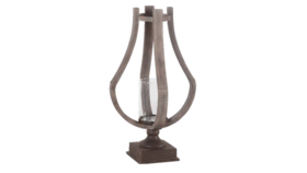 """Image of a Candle Holder - Brillion Wood - LG 25.5"""" H"""