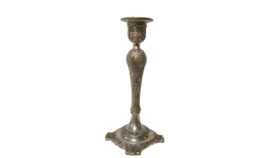 """Image of a Candle Holder - Candlestick, Silver - 11"""" H"""
