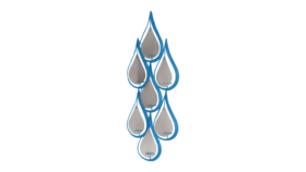 """Image of a Candle Holder - Raindrop Sconce, Blue - 50"""" H"""