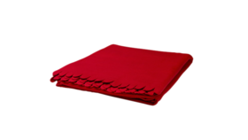 "Image of a Throw - Fleece Blanket, Red- 51"" x 67"""