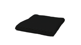 "Image of a Throw - Fleece Blanket, Black - 51"" x 67"""