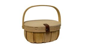 "Image of a Basket - Wood Picnic - SM 4"" H x 7.5"" L"