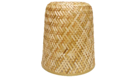 "Image of a Basket - Woven Bamboo, Natural - 15"" H x 10"" dia"
