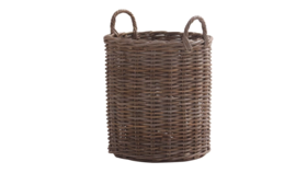 "Image of a Basket - Woven Grey Wash w/ Handles 20"" H"