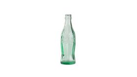 """Image of a Bottle - Coke, Clear Green - 8"""" H x 2"""" W"""