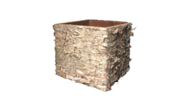 """Image of a Container - Birch Cube - 4.75"""" H"""