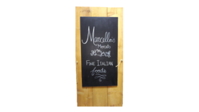 "Image of a Chalkboard - Sandwich Board Wood, Natural - 6' H x 36"" W"