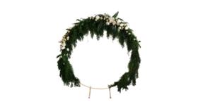 Prop - Circular Wedding Arch, White - 7' H x 7' W x 2' D image