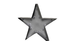 Image of a Marquee Sign - Star, Black