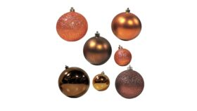 "Image of a Christmas - Bauble Collection (50 pcs.), Bronze | Copper - 1.5"" - 3"" dia."