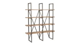 Image of a Furniture Bar Back - Malkin Industrial, Brown | Black -