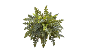 "Image of a Greens - Faux Holly Fern Bush 20 - 24"" H"