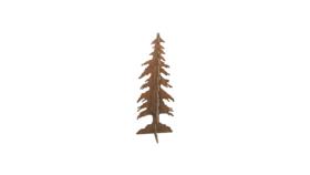 "Image of a Tree - Wood Cut Out (2 pcs), Natural - LG 8' H x 36"" W"