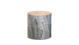 "Image of a Furniture Stool - Faux Tree Stump Round, Light - 17.5"" dia."