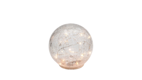 "Image of a Lighting - LED Crackle Glass Sphere - LG 8"" dia."