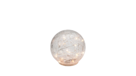 "Image of a Lighting - LED Crackle Glass Sphere - SM 6"" dia."