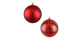 "Image of a Christmas - Bauble, Gloss | Matte Collection (50 pcs.), Red - 1.5"" dia."