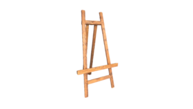 Image of a Easel - Wood, Chestnut Brown - XL 7' H x 4' W