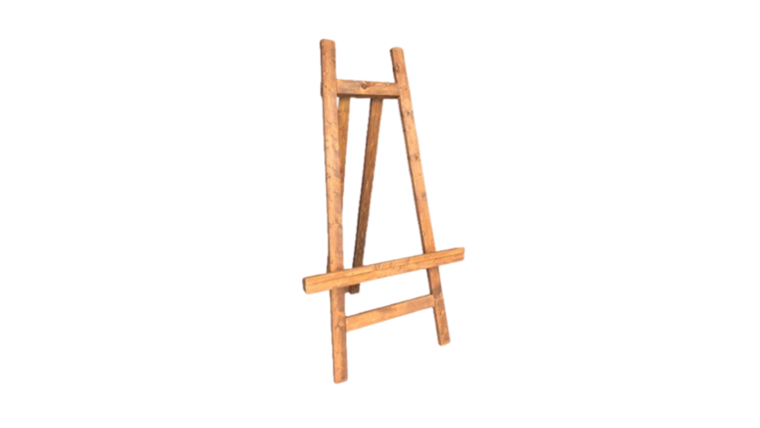 Picture of a Easel - Wood, Chestnut Brown - XL 7' H x 4' W