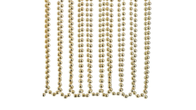 Image of a Christmas - Garland Beads, Gold - 15' L