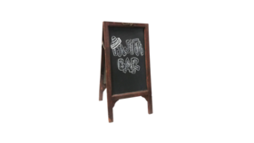 "Image of a Chalkboard - Sandwich Board Wood, Dark Brown - 32"" H x 16"" W"