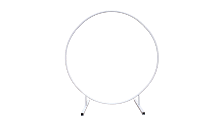 Picture of a Prop - Circular Wedding Arch, White - 7' H x 7' W x 2' D