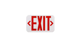 Image of a Sign - Exit, Red