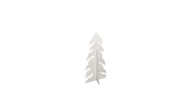 Image of a Tree - Snow Covered Wood Cut Out (2 pcs), White - SM 6' H