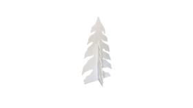 Image of a Tree - Snow Covered Wood Cut Out (2 pcs), White - LG 8' H