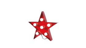 Image of a Marquee Sign - Star, Red - 20""