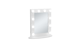 """Image of a Mirror - Makeup Mirror (10 lights), White - 19.5"""" H x 25.5"""" W"""