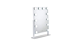 """Image of a Mirror - Makeup Mirror (12 lights), White - 15.75"""" H x 12"""" W"""