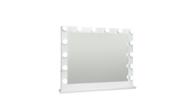 """Image of a Mirror - Makeup Mirror (12 lights), White - 25.5""""H x 31.5"""" W"""