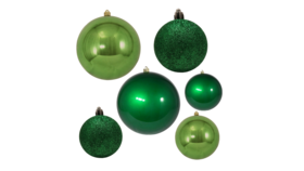 "Image of a Christmas - Bauble Collection (50 pcs.), Green - 1.5"" - 3"" dia."