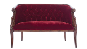 Image of a Settee, Scarlet