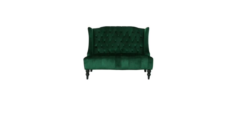 Picture of a Emerald Green Velvet Settee