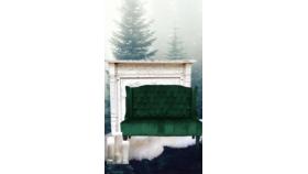 Emerald Green Velvet Settee image
