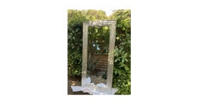 Image of a Silver Tall Mirror