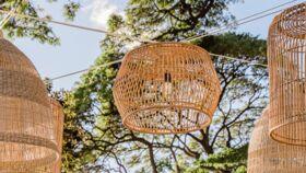 Image of a Bamboo Pendant Light (Short)