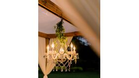 Image of a Crystal Chandelier - 5 Arm