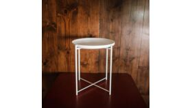 Image of a Caitlyn White Metal Side Table