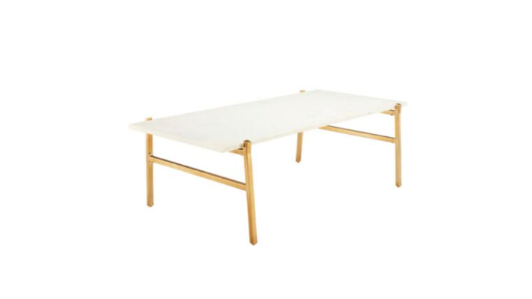 Picture of a Lillian Marble & Brass Coffee Table