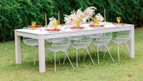 """Image of a Adeline White Dining Table (96"""" L x 48"""" W)"""