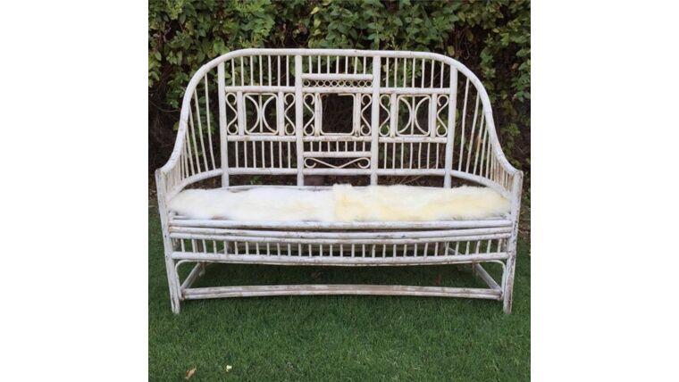 Picture of a Chantel Antiqued White Loveseat