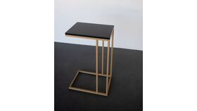 Image of a Alessia Black & Gold Rectangular Side Table